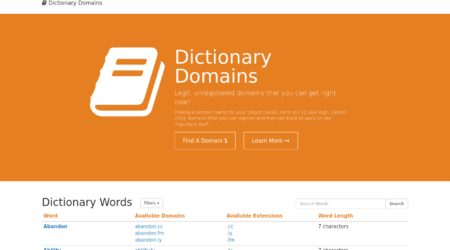Dictionary Domains