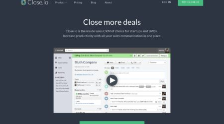 GrowthJunkie Tool | Close | Customer Relationship Mgmt (CRM)