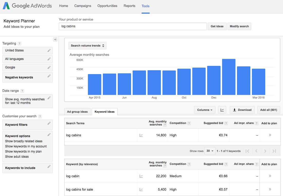 GrowthJunkie Tool   Google Keyword Planner   Search Engine Optimization (SEO)