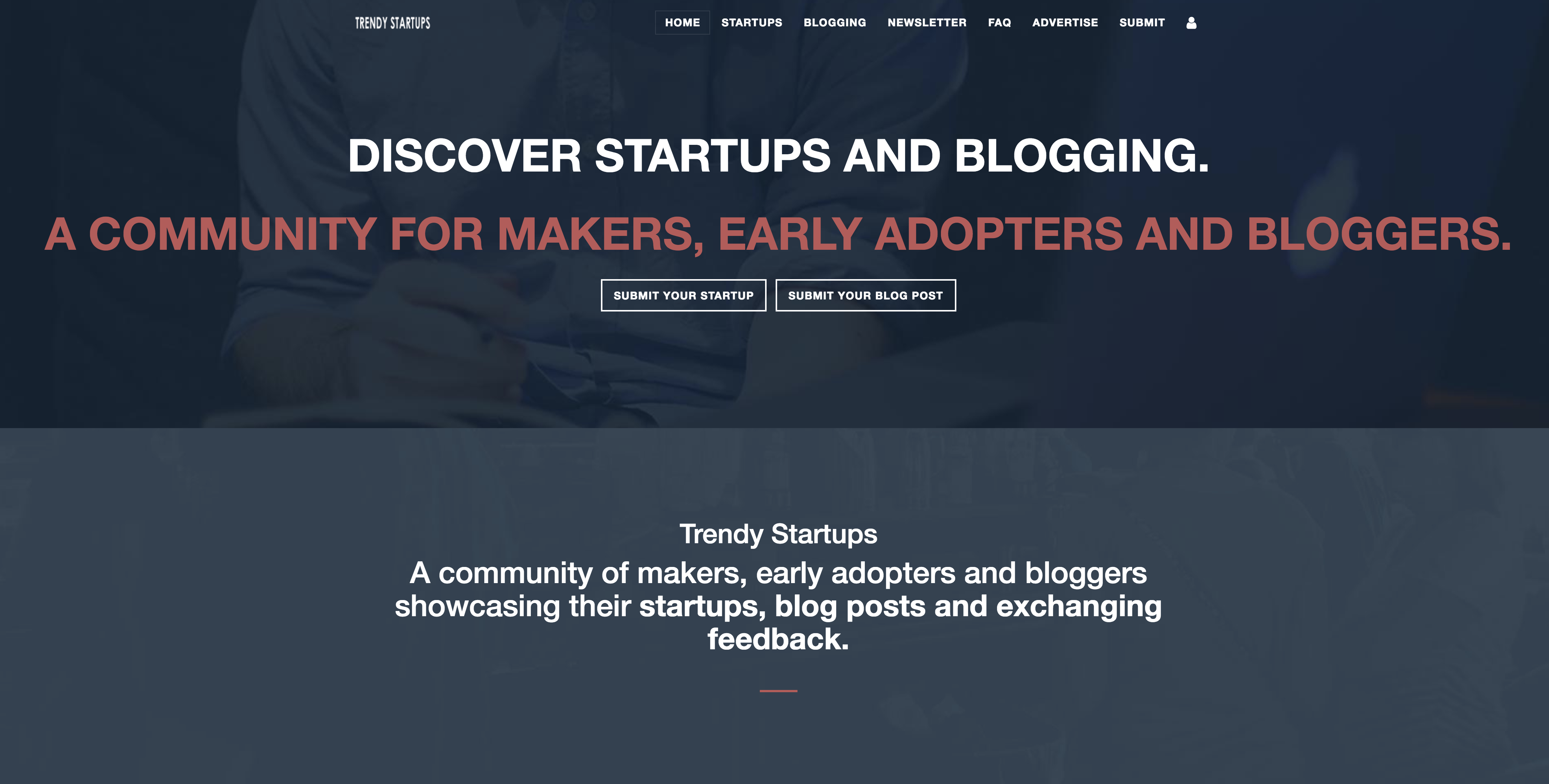 Trendy startups