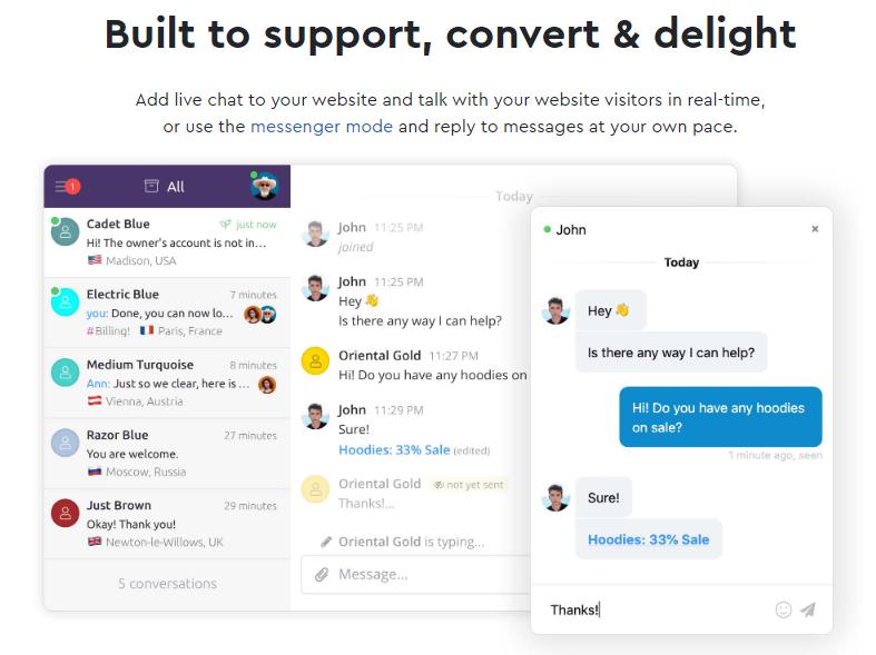 GrowthJunkie Tool | Chatra | Customer Engagement