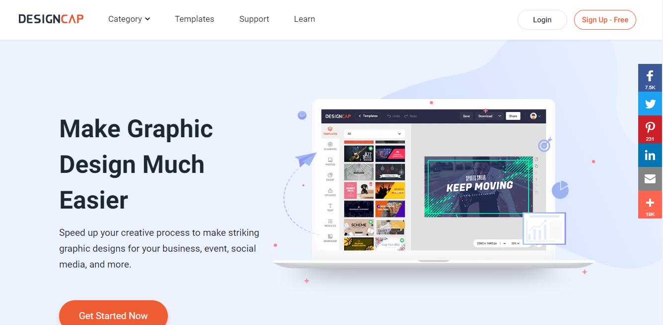 GrowthJunkie Tool | DesignCap | Design