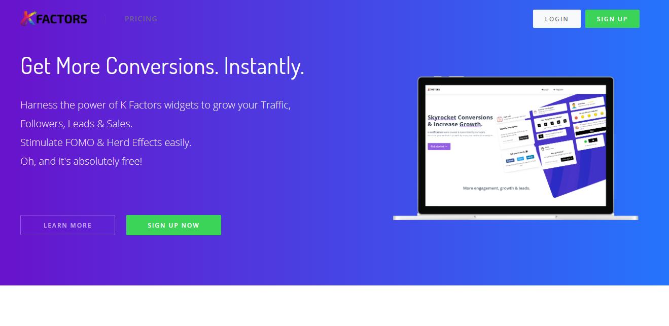 GrowthJunkie Tool | KFactors | User Acquisition